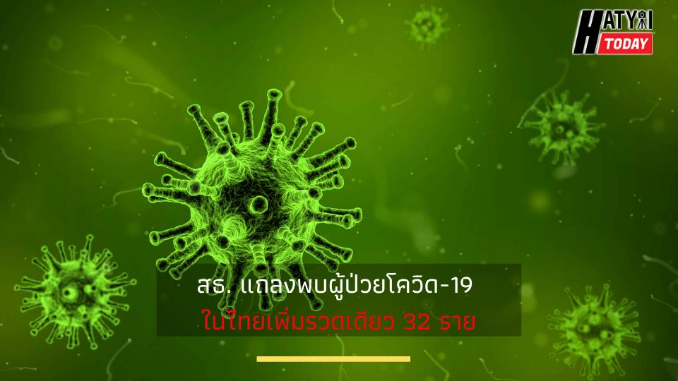 สธ. แถลงพบผู้ป่วยโควิด-19 ในไทยเพิ่มรวดเดียว 32 ราย รวมผู้ติดเชื้อสะสม 114 คน .