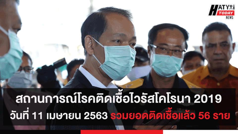 สถานการณ์โรคติดเชื้อไวรัสโคโรนา 2019 วันที่ 11 เมษายน 2563 ในจังหวัดสงขลา