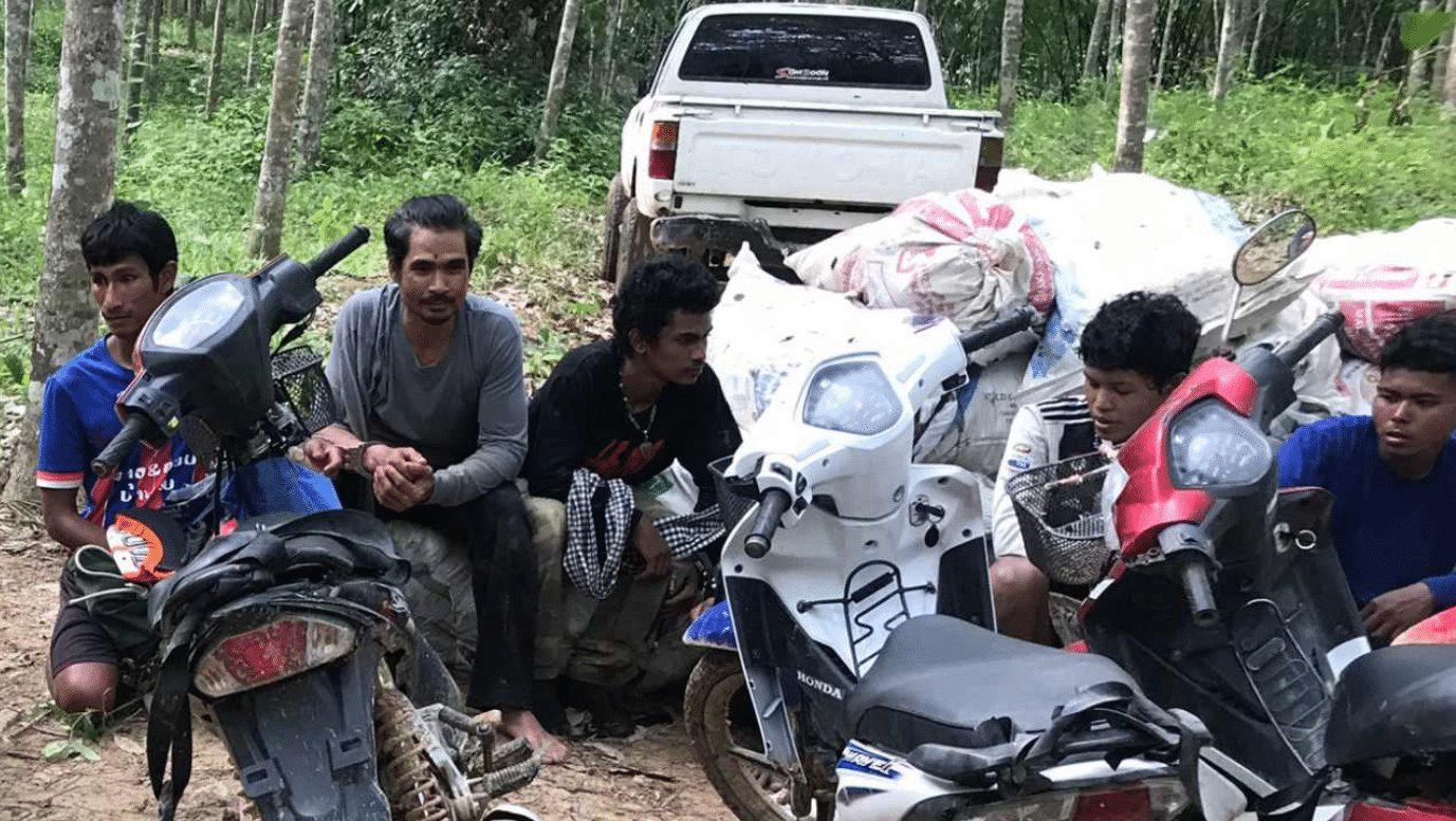 จับ 6 คนไทยลักลอบขนใบกระท่อม บริเวณชายแดนไทย-มาเลเซีย