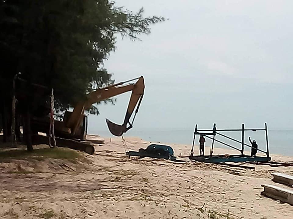 หาดม่วงงาม ไม่มีปั่นจั่นเเล้วหลังศาลมีคำสั่งคุ้มครองชั่วคราว