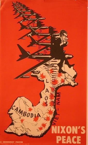 โฆษณาล้อเลียนสงครามเวียดนามใต้ที่มีเบื้องหลังเป็นสหรัฐอเมริก