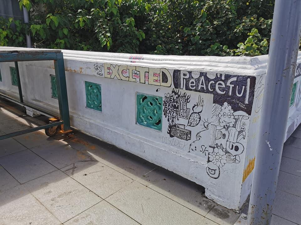 เทศบาลสงขลา ขอความร่วมมือจากประชาชน-เยาวชน อย่าขีดเขียน บนผนังและพื้นของสถานที่สาธารณะ