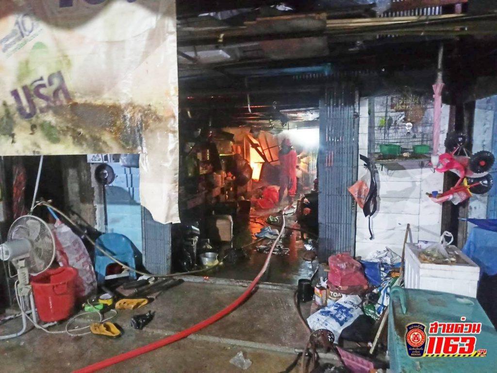 เตรียมให้การช่วยเหลือเหตุเพลิงไหม้บ้าน เลียบถนนโชคสมาน 5 หาดใหญ่