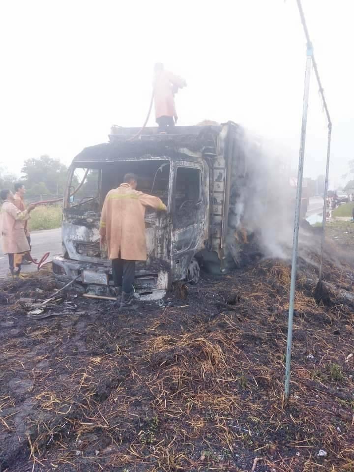 โจรใต้เผารถบรรทุกและสำนักงานอบต.ที่สายบุรี จ.ปัตตานี หวังมุ่งทำลายประชาชน