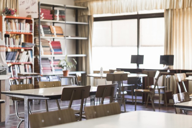 Chairs Tables Empty Classroom 23 2147863493