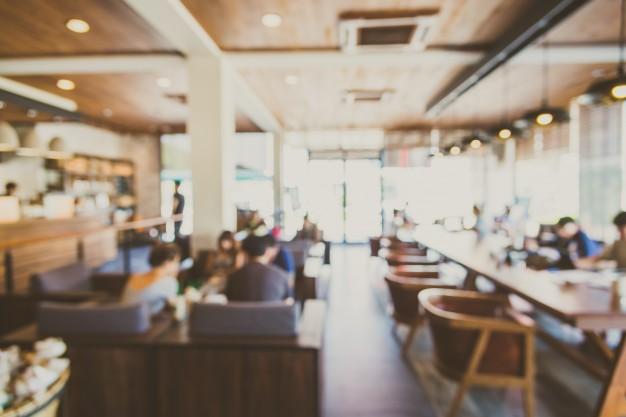 Background Blurry Restaurant Shop Interior 1203 4031