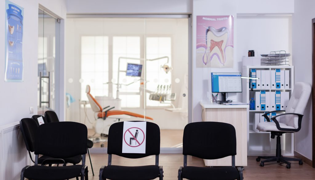 Waiting Room In New Normal Clinic With Nobody In It
